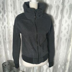 Lululemon Athletica Size 6 Black Gray Full Zip Thu